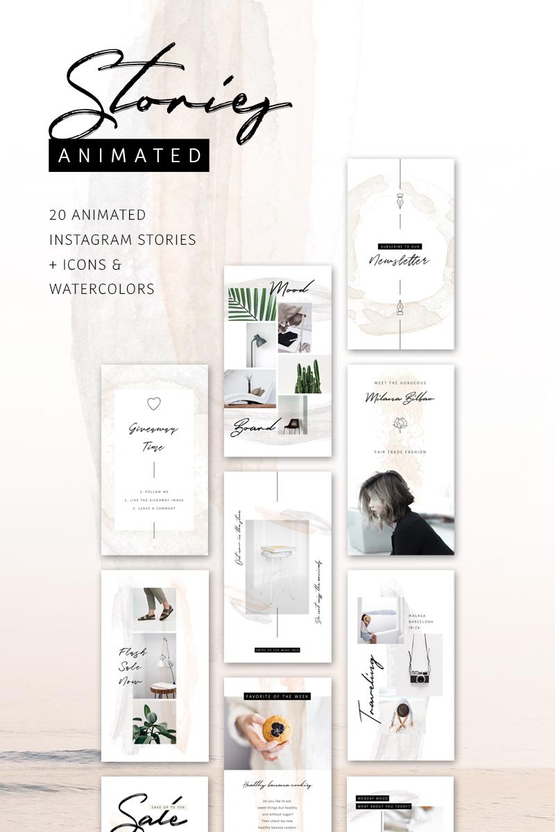 """ANIMATED Instagram Stories – So Female"" média social  #75740"