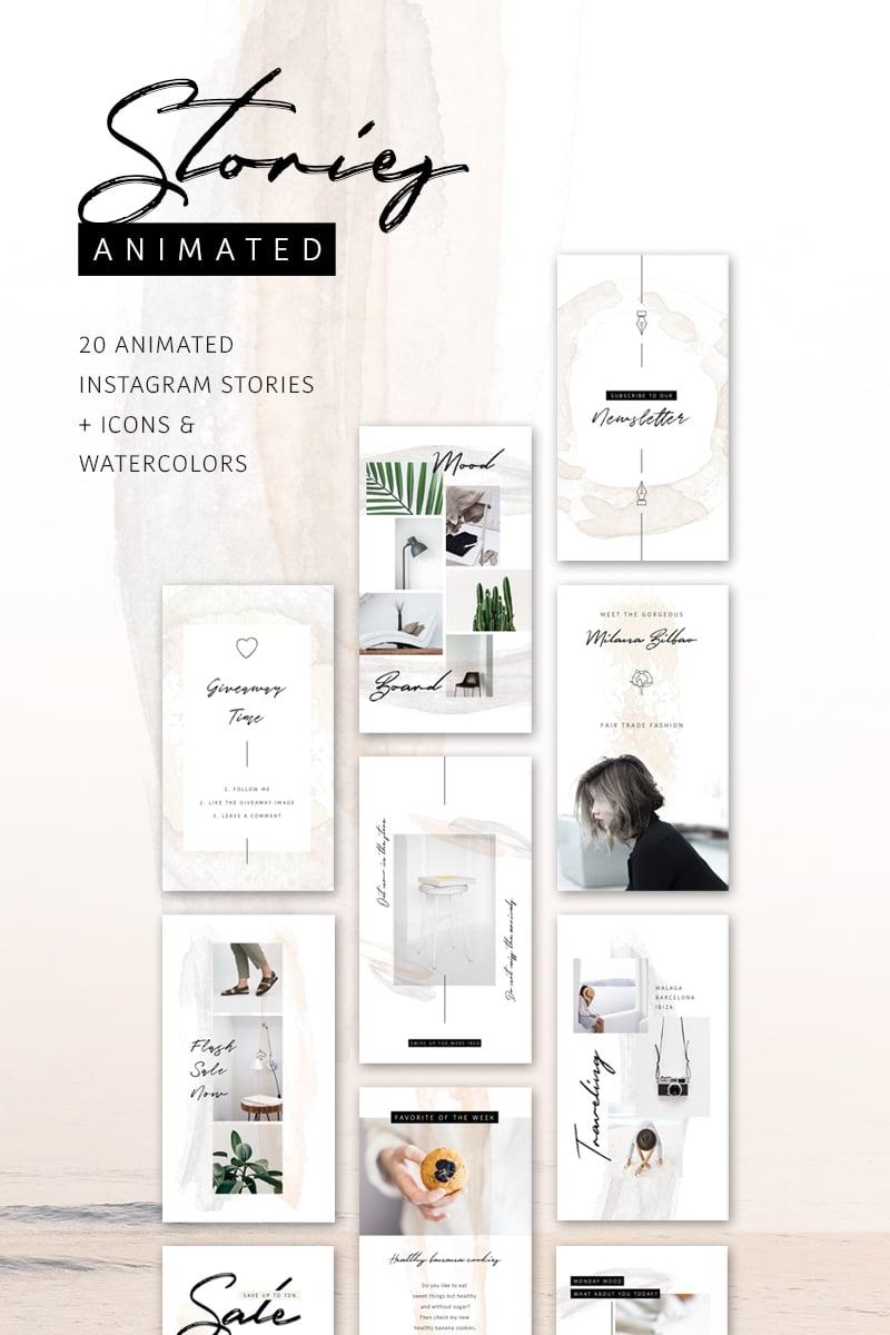 """ANIMATED Instagram Stories – So Female"" Social Media №75740"
