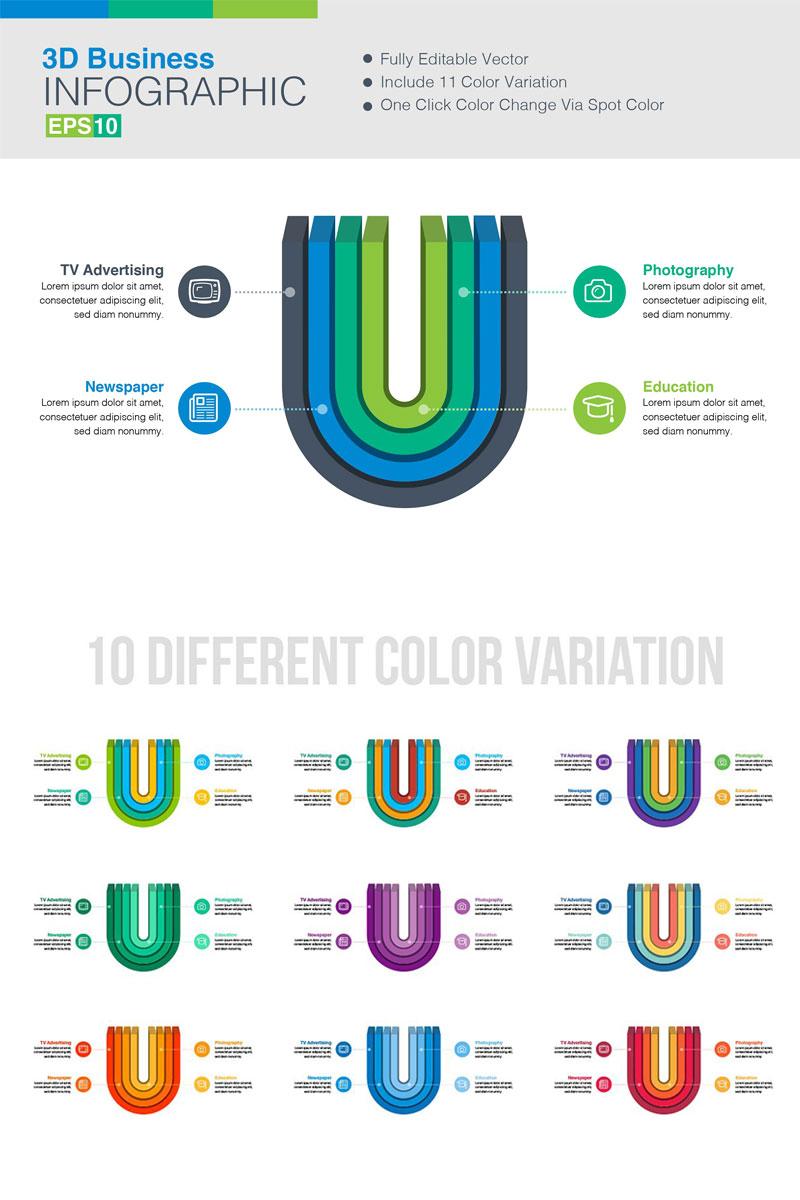 3D Vector Elementos Infograficos №75787