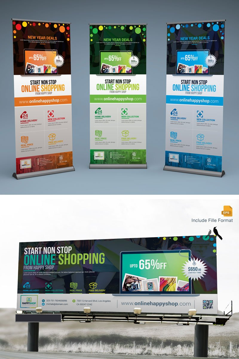 Digital Signage, Billboard, Rollup Banner, Promotional Banner Corporate Identity Template