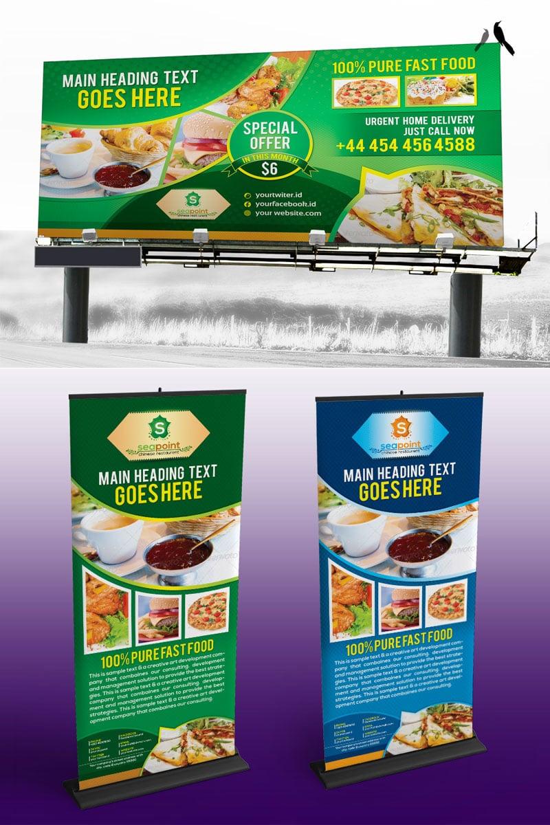 Fast Food Billboard Corporate Identity Template