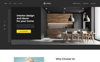 Interia - Design One Page Creative HTML Landing Page Template