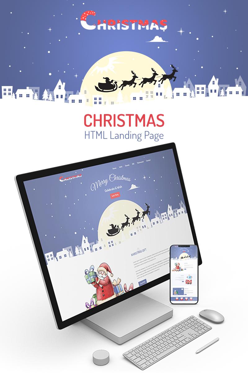 """Kristmas - Christmas"" Landingspagina Template №75722"