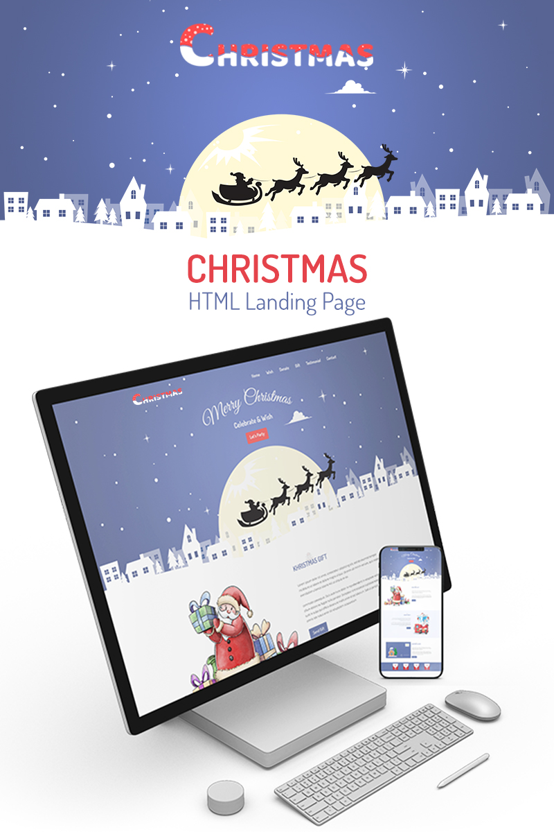 Kristmas - Christmas Nyítóoldal sablon 75722