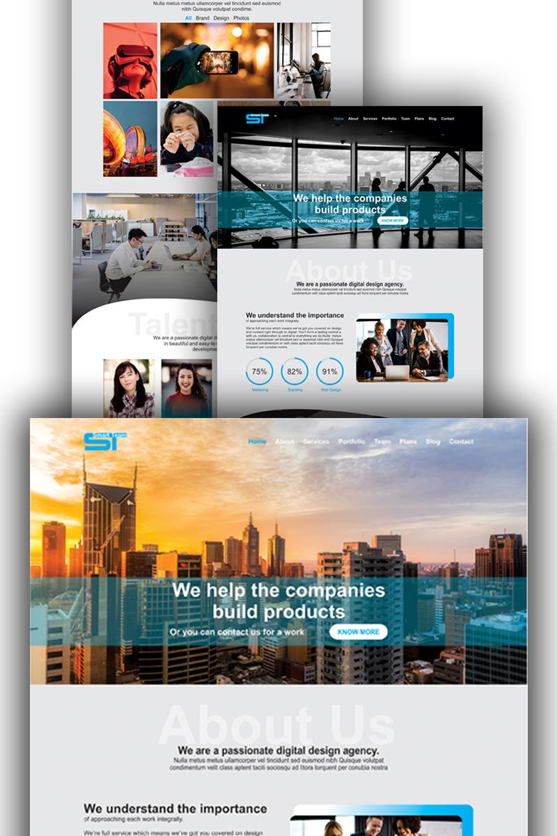 Responsivt Smart Team - PSD-mall #75797