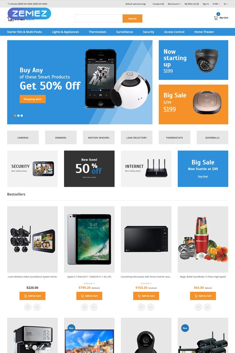 Smartex - Electronics & Gadgets Clean OpenCart Template