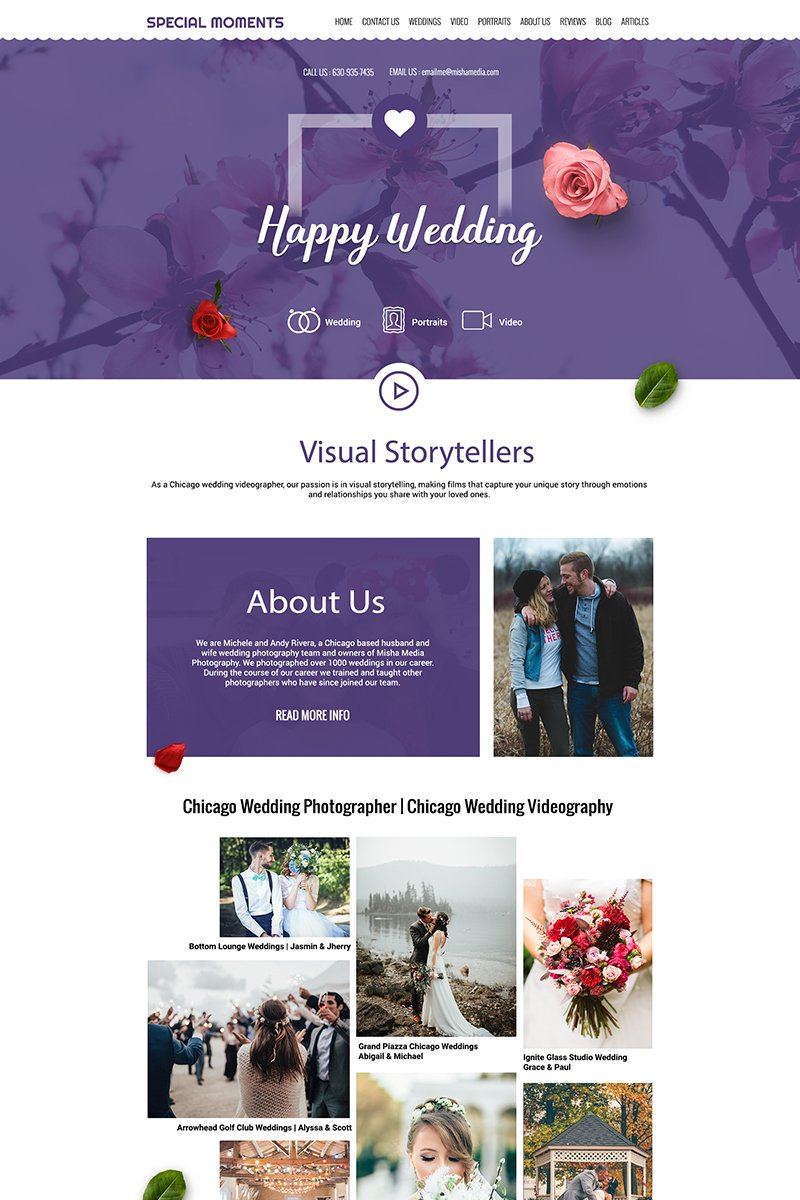 SpecialMoments - Multipurpose Wedding Photography PSD Template