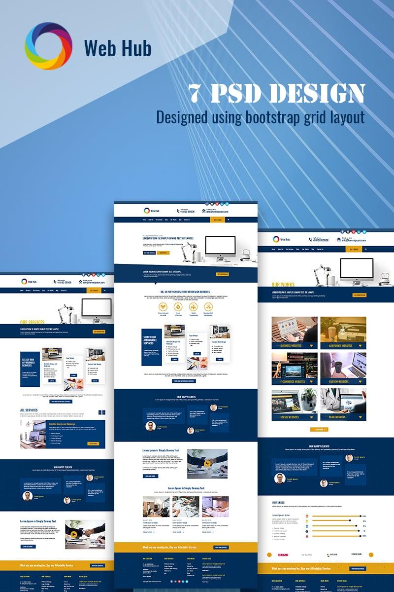 WebHub - Multipurpose Web Designing PSD Template