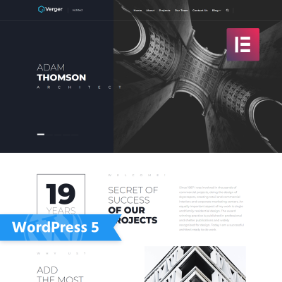 Responsives WordPress Theme für Architektur