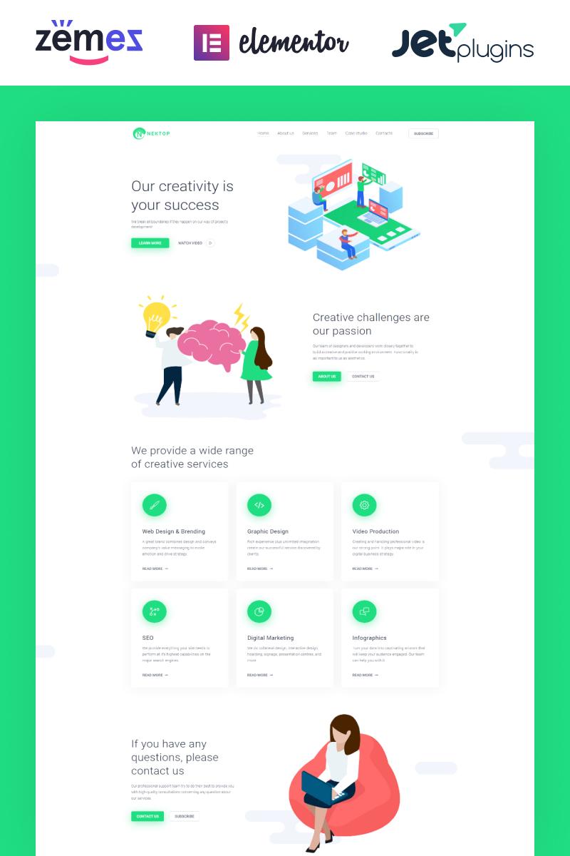 Nektop - Design Studio Multipurpose Creative Elementor №75870 - скриншот