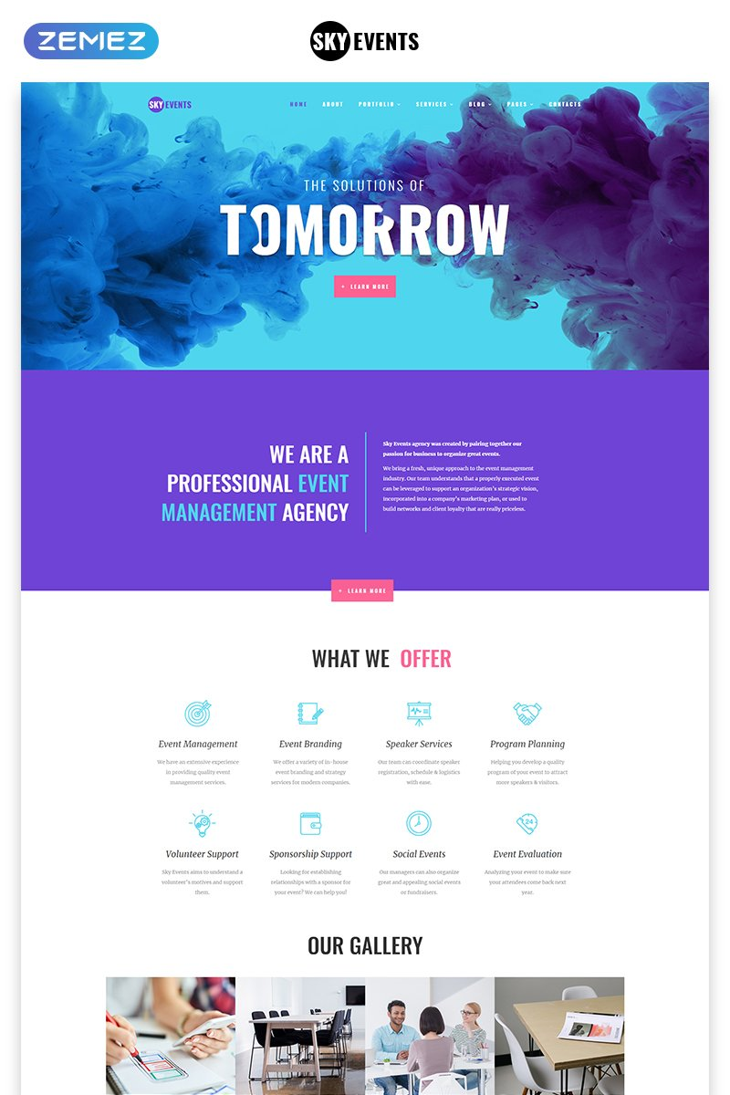 SkyEvents - Event Multipage Creative Bootstrap HTML Website Template