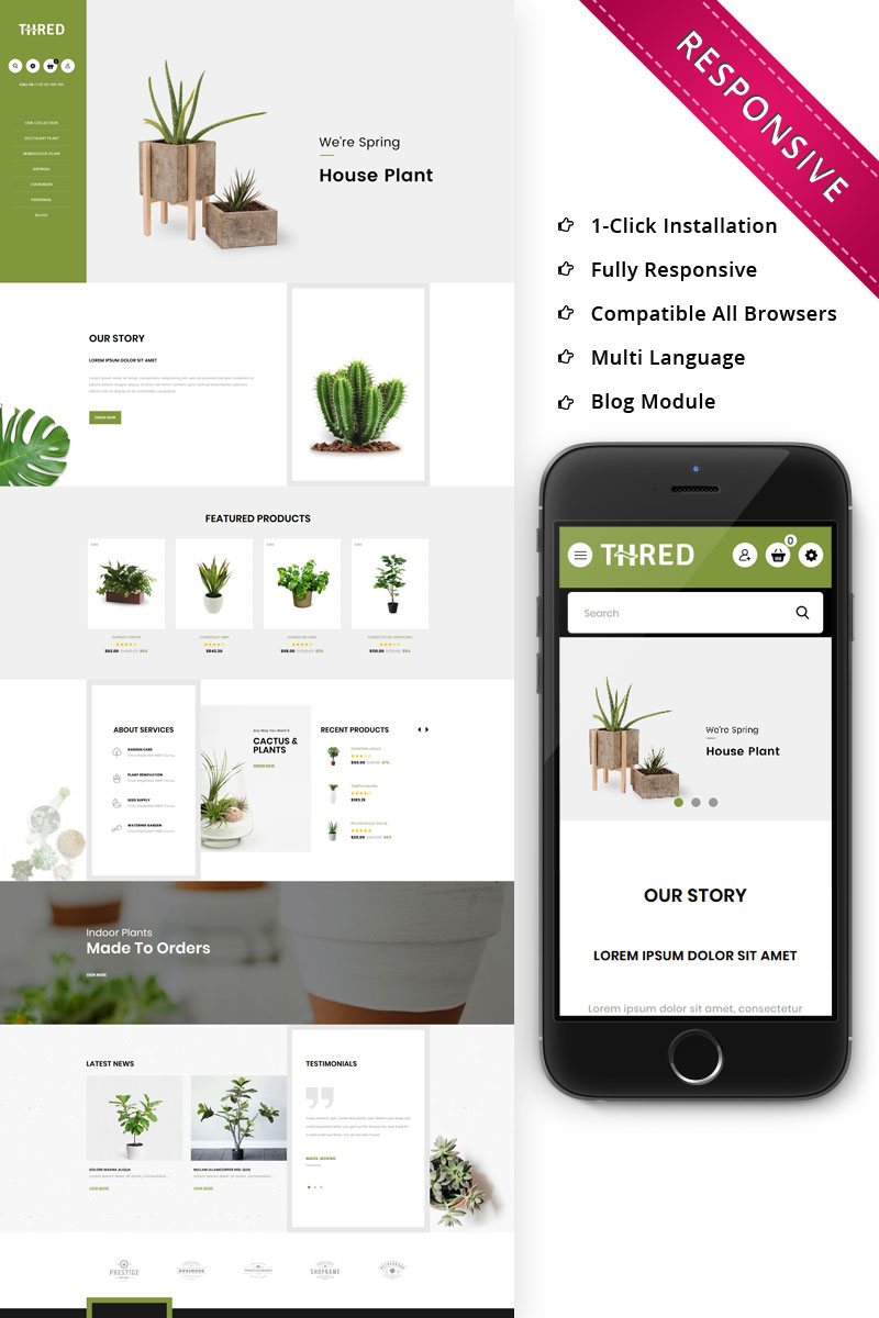 Thred Plant Responsive Opencart Template