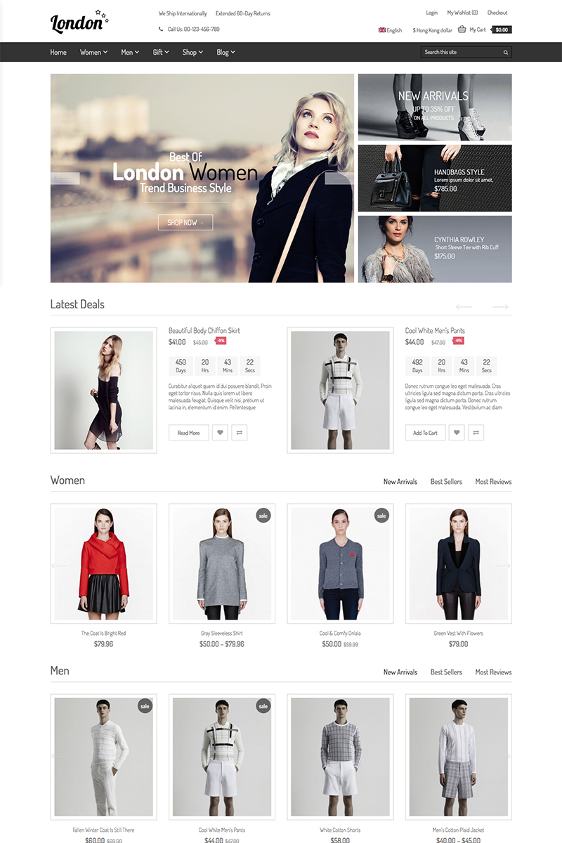 Website Design Template 75917 - theme woocommerce page builder