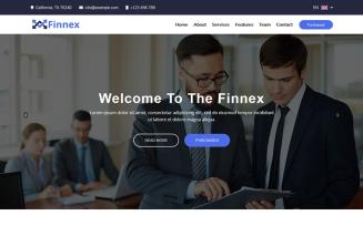 Finnex - Startup Landing Page Template