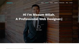 Joggota - Personal Portfolio HTML5 Landing Page Template