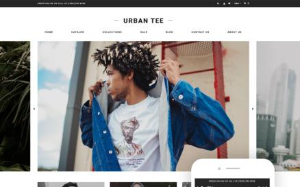 Urban Tee - T-Shirt Store Clean Shopify Theme