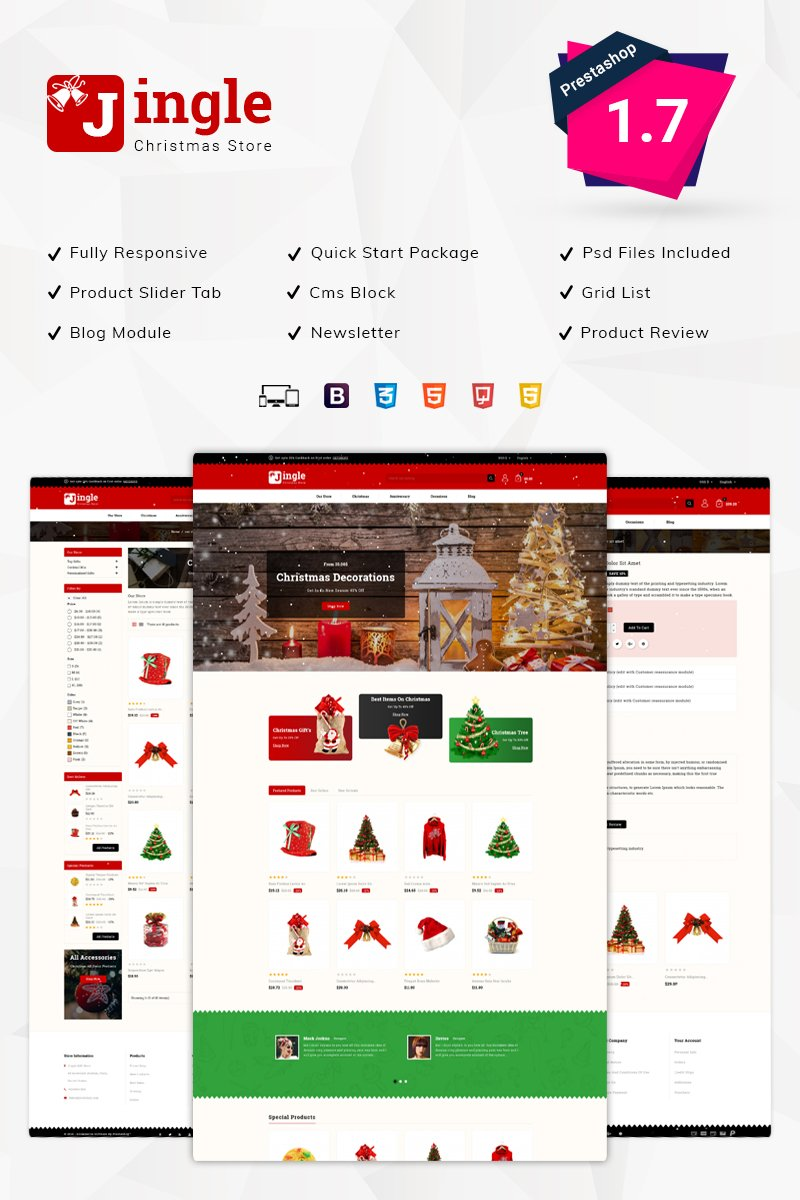 Website Design Template 75981 - toys kids antic multipurpose multilanguage responsive css3 html5 ajax psd jingle christmasstore decoration testimonial cms customizable blog services