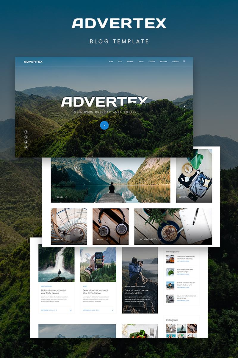 """Advertex - Travel Personal Blog"" 响应式WordPress模板 #75955"