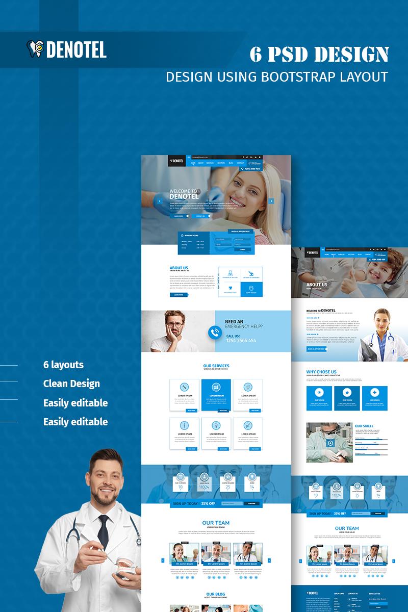 Denotel - Multipurpose Dental Template Photoshop №75962