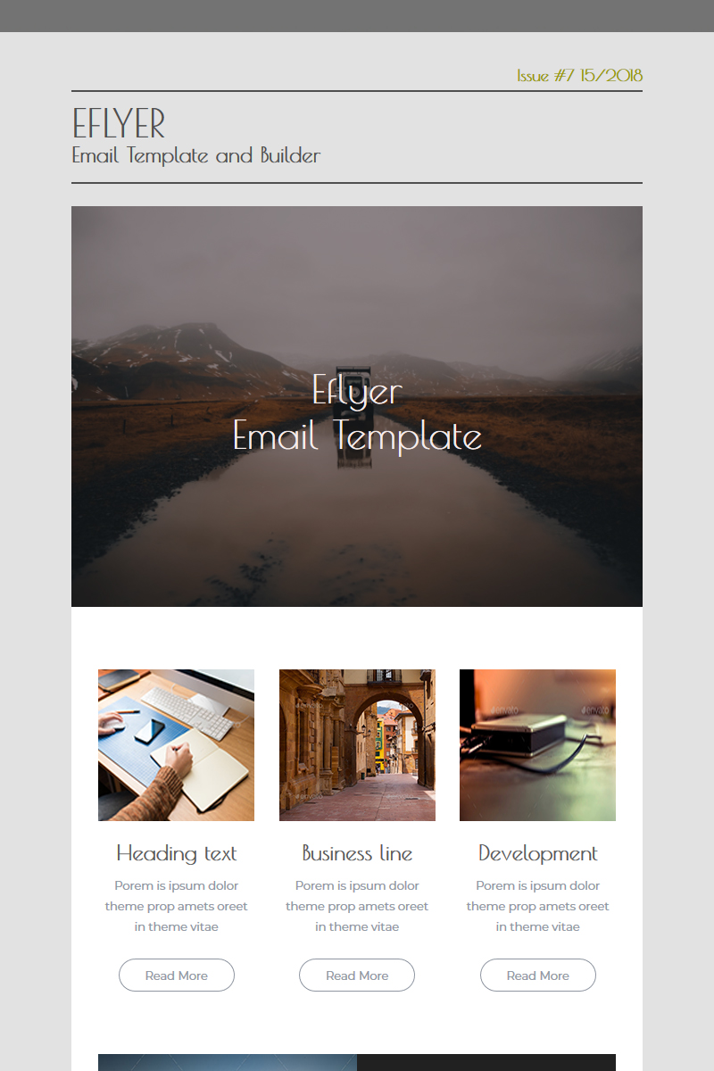 Eflyer - Newsletter Template - screenshot