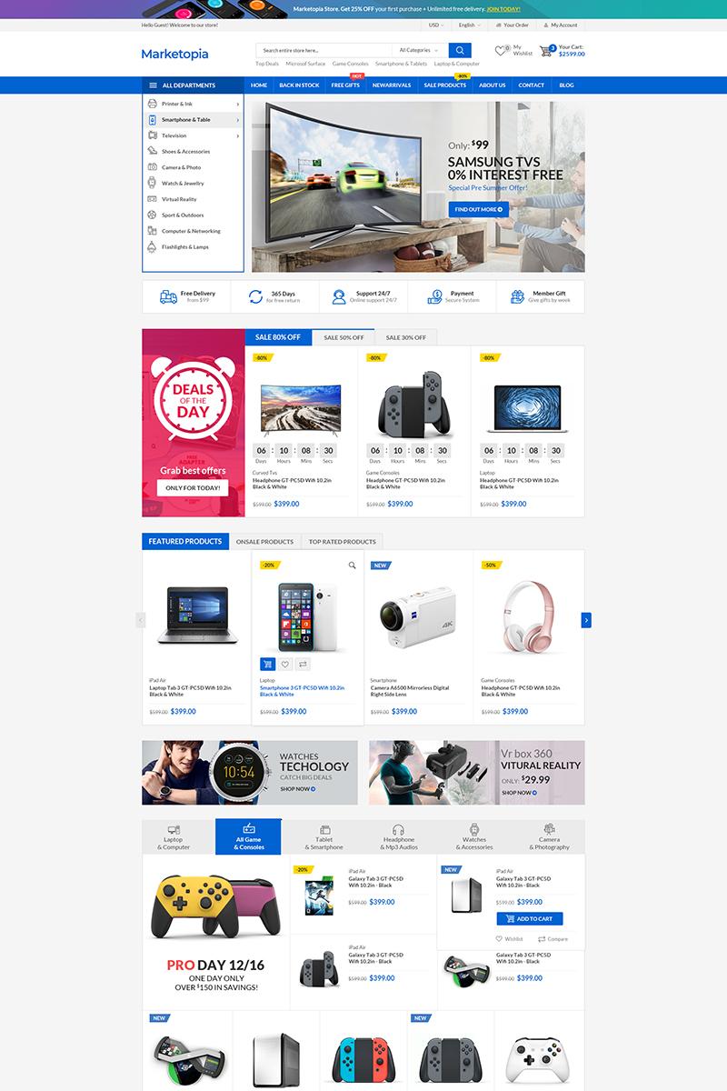 """MarketOpia"" - адаптивний WooCommerce шаблон №75956"