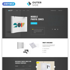 one page landing page templates templatemonster