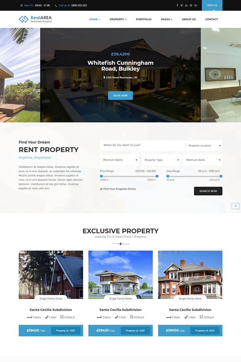 """RealArea - RealEstate"" Responsive WordPress thema №75916"