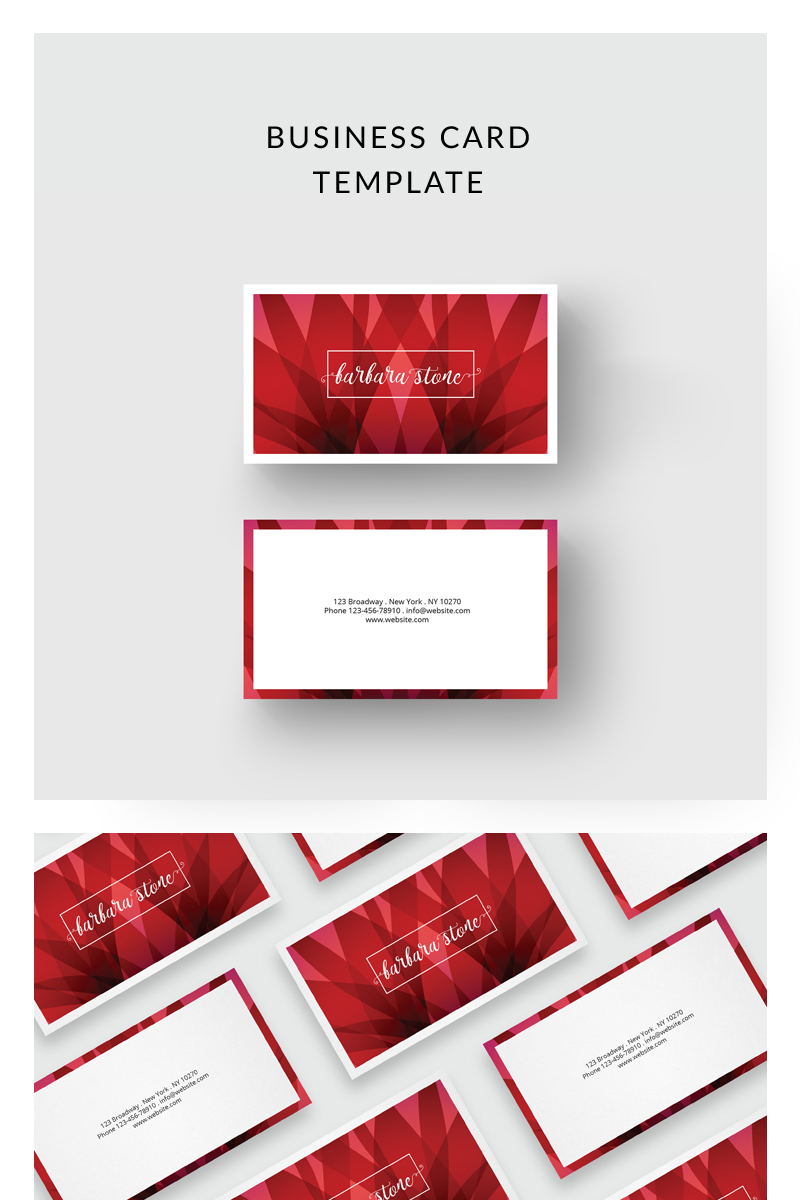 Red Business Card Corporate Ideny Template