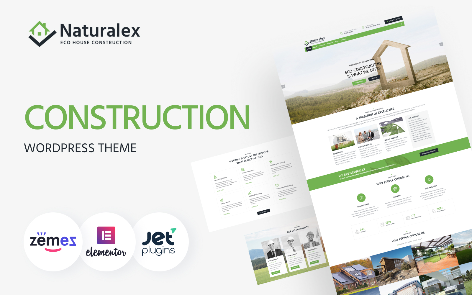 Responsywny motyw WordPress Naturalex - Construction Multipurpose Classic Elementor #75933