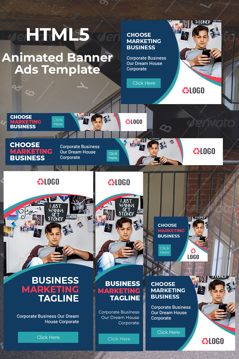 """Tema Animated Banner #75954 """"Business Banner Ads"""""""