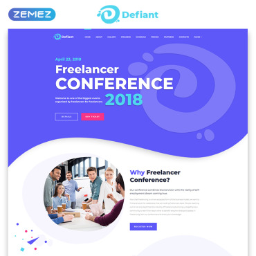 Defiant Event Responsive Minimal Bootstrap Html Website