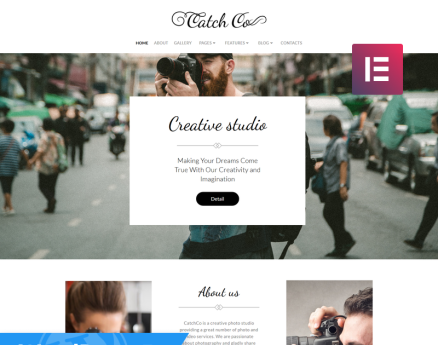 Catch Co - Photo Studio Multipurpose Creative Elementor WordPress Theme