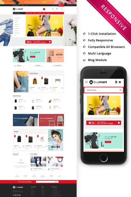 Website Design Template 76020 - automobile tools megastore stores fashion megashop multishop jewelry petshop multipurpose menfashion responsive opencart