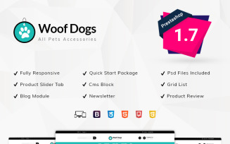 Woofdog Pet Store PrestaShop Theme