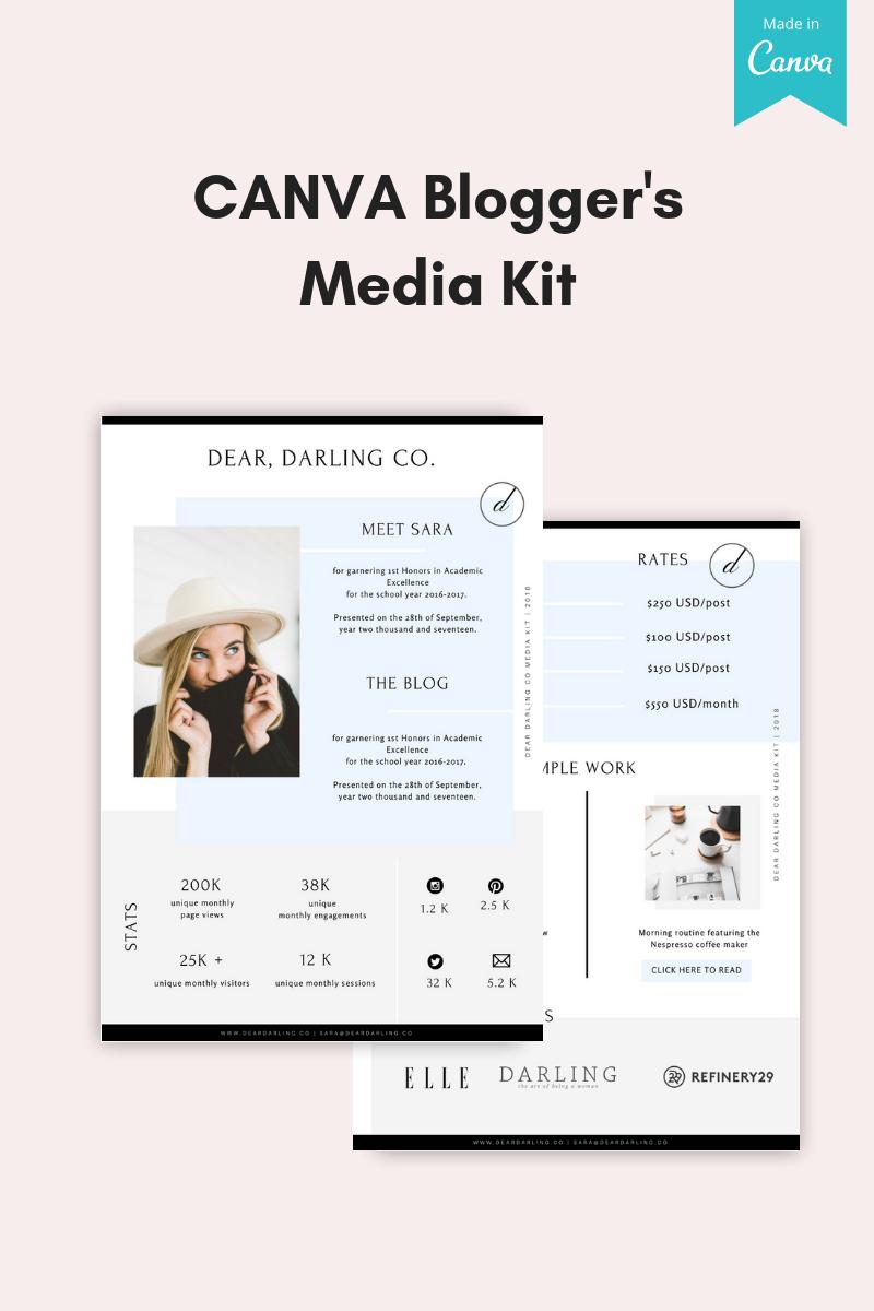 """CANVA Bloggers Media Kit"" - Елементи інтерфейсу №76010"