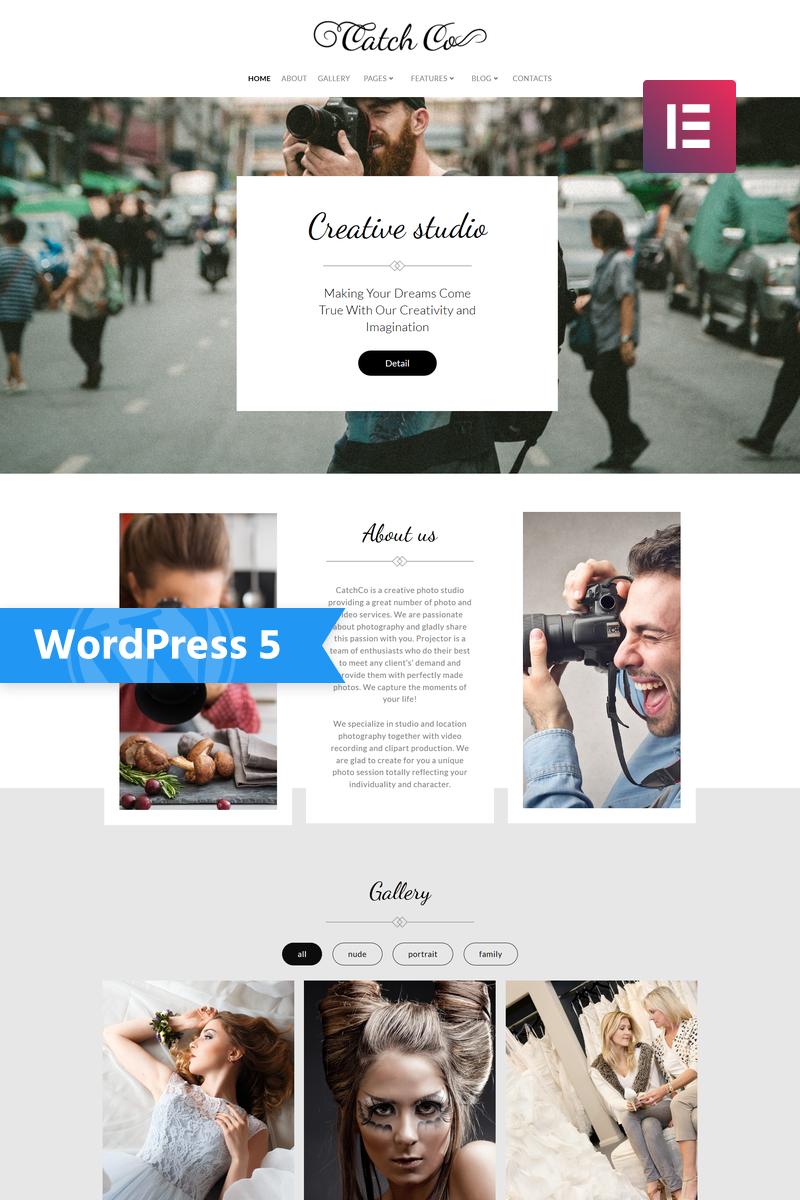 """Catch Co - Photo Studio Multipurpose Creative Elementor"" 响应式WordPress模板 #76017"