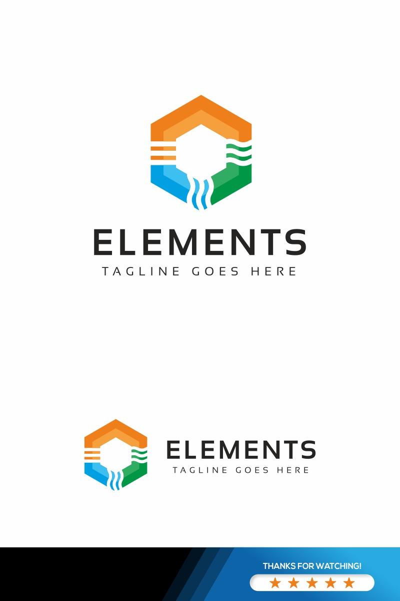 Elements Nature Logo Template