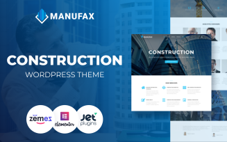 Manufax - Construction Multipurpose Creative WordPress Elementor Theme