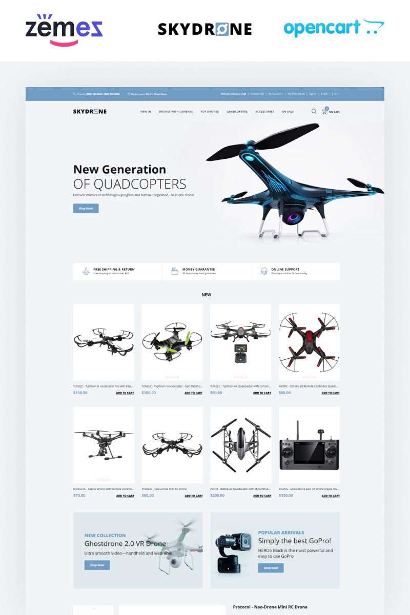 "Plantilla OpenCart ""Skydrones - Quadcopter Responsive Elegant"" #76025"