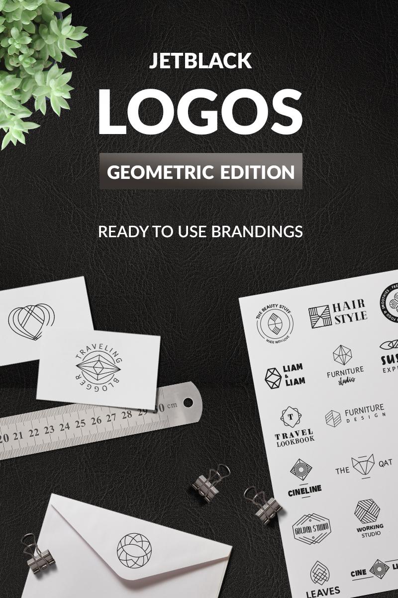 30 Premade Logos – Geometric Edition Unika logotyp mall #76096