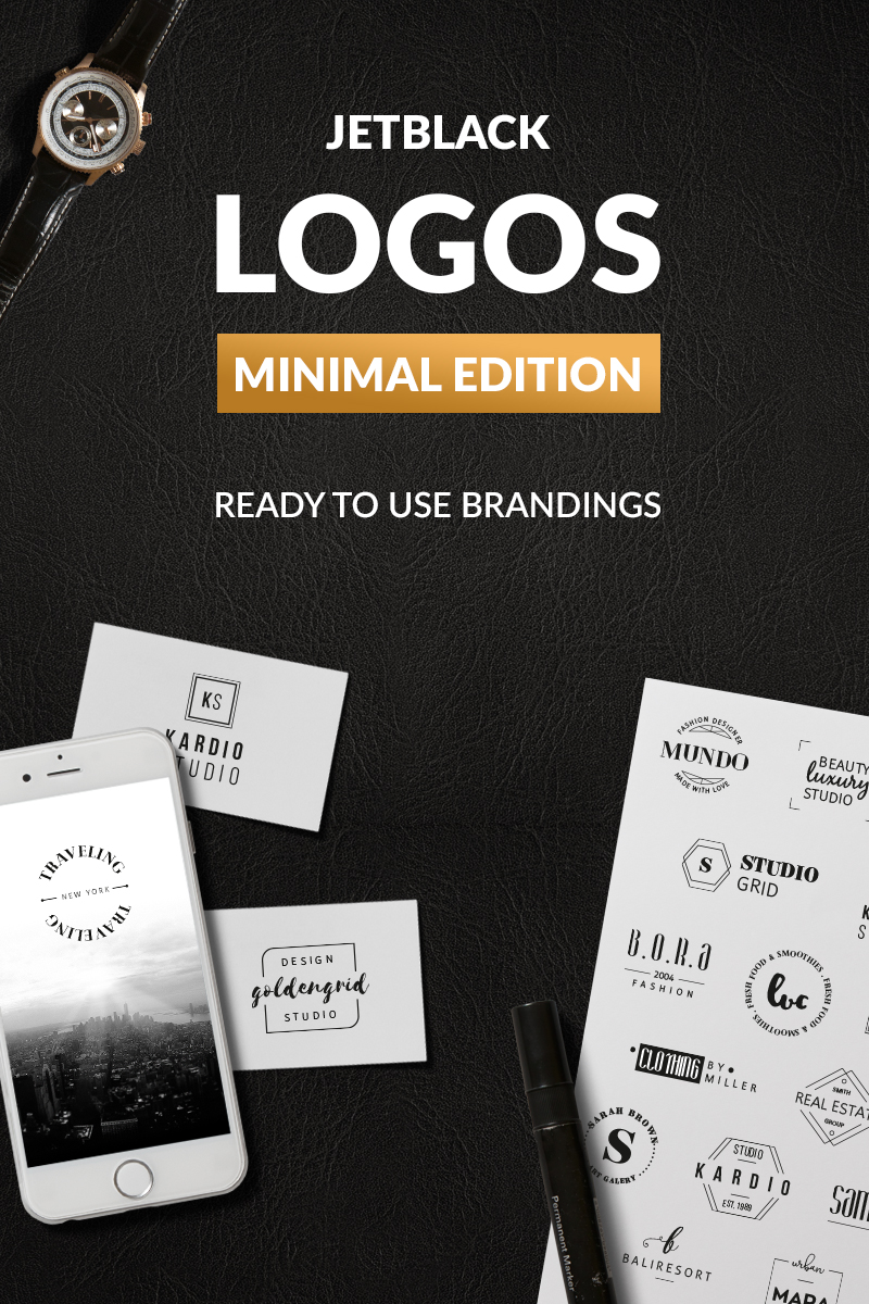 """30 Premade Logos - Minimal Edition"" modèle logo  #76094"
