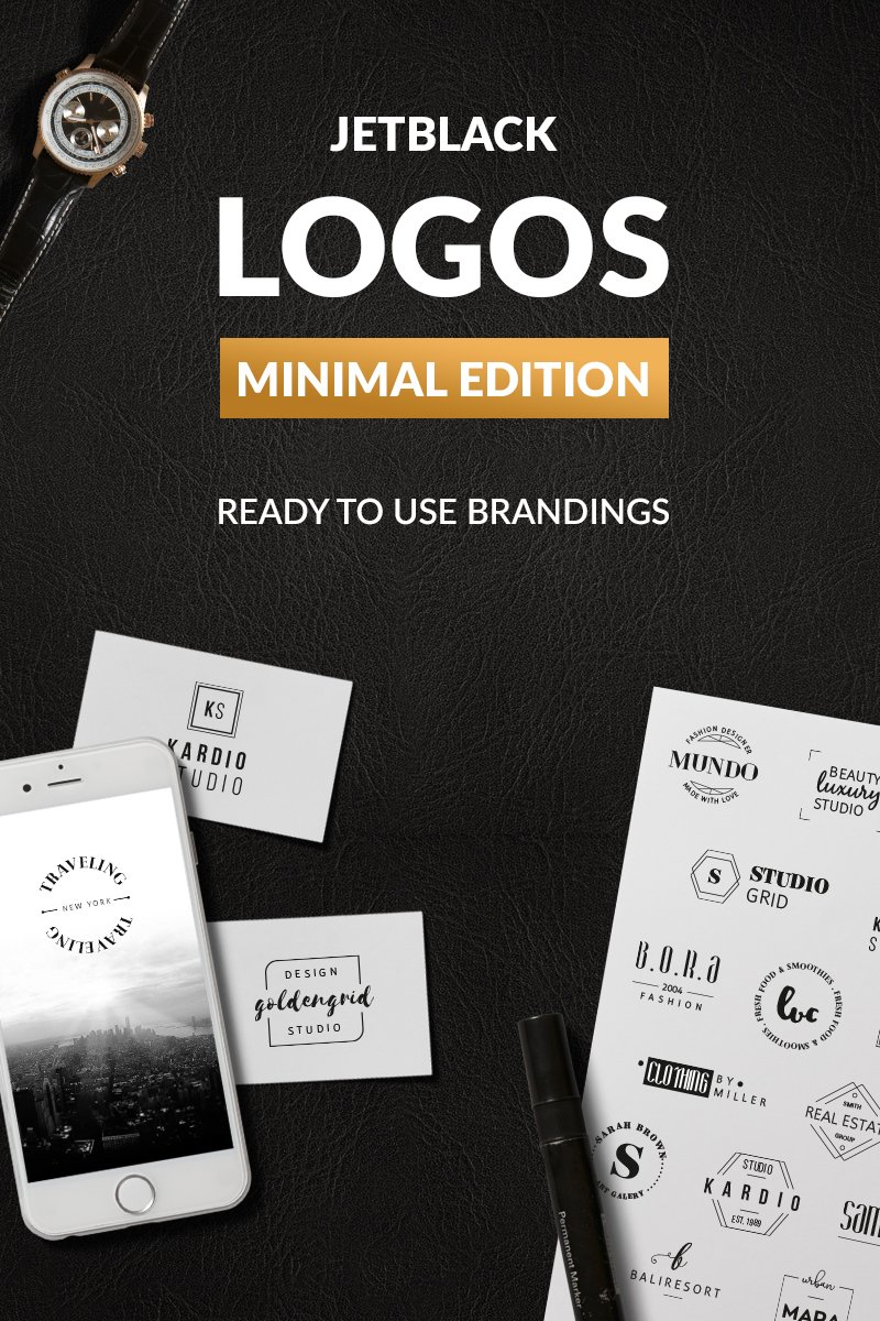"""30 Premade Logos - Minimal Edition"" - Шаблон логотипу №76094"
