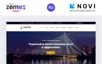 Razvitie - Investment Ready-to-Use HTML Ru Website Template