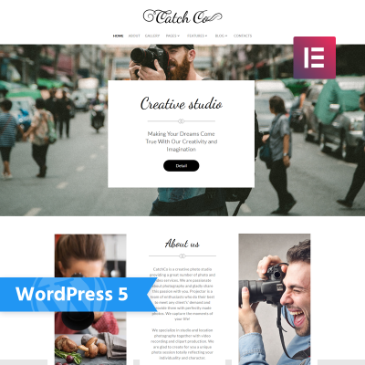 Responsive Catch Co - Photo Studio Multipurpose Creative Elementor Wordpress Teması #76017