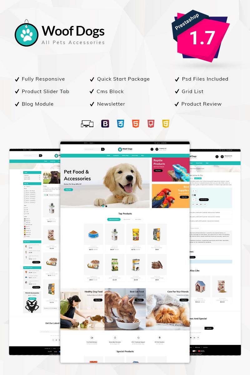 Responsive Woofdog Pet Store Prestashop #76089