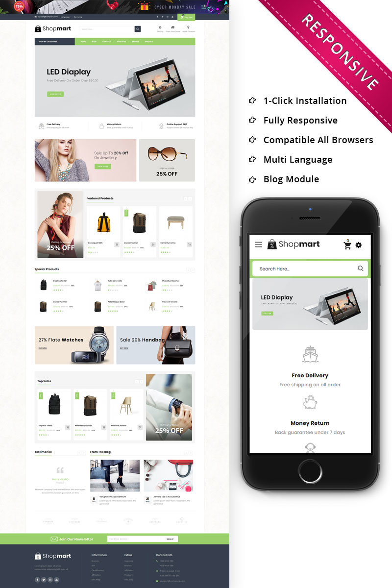 Shopmart - The Mega Store Responsive OpenCart Template - screenshot