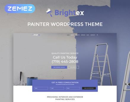 Brightex - Painting Services Multipurpose Classic Elementor WordPress Theme
