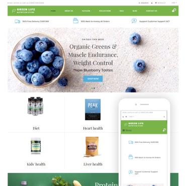 Купить  пофессиональные Shopify шаблоны. Купить шаблон #76188 и создать сайт.