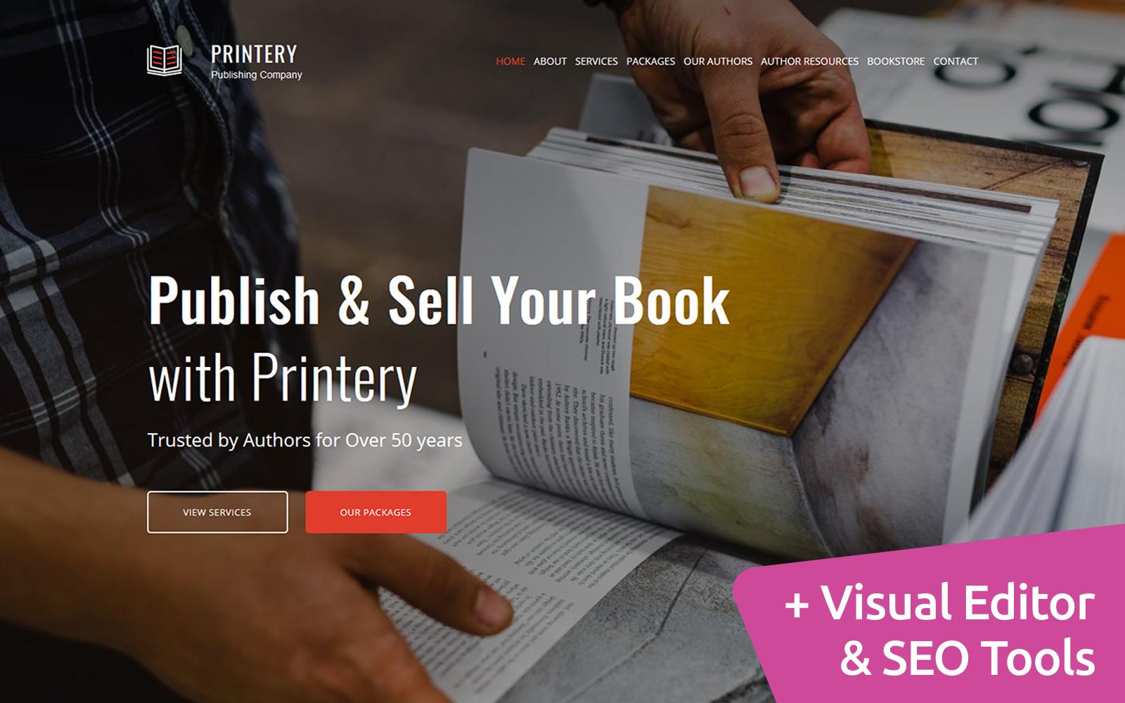 """Book Publishing"" 响应式Moto CMS 3 模板 #76180"