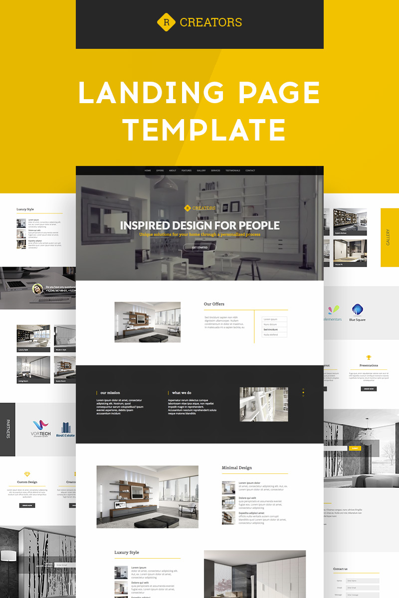Creators   Responsive Landing Page Template